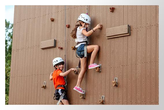 Kids on Cougar Climb