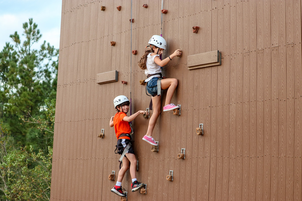 Two Children's On Cougar Climb Rock Climbing Wall
