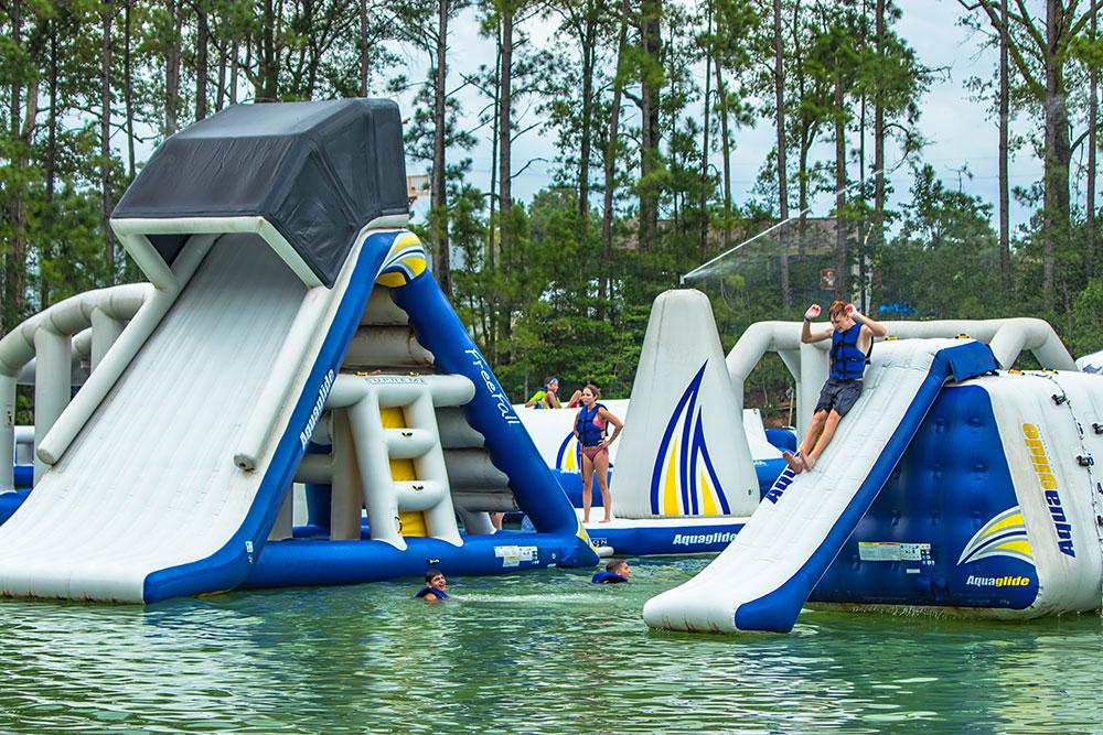 Wild Isle Inflatable Slides