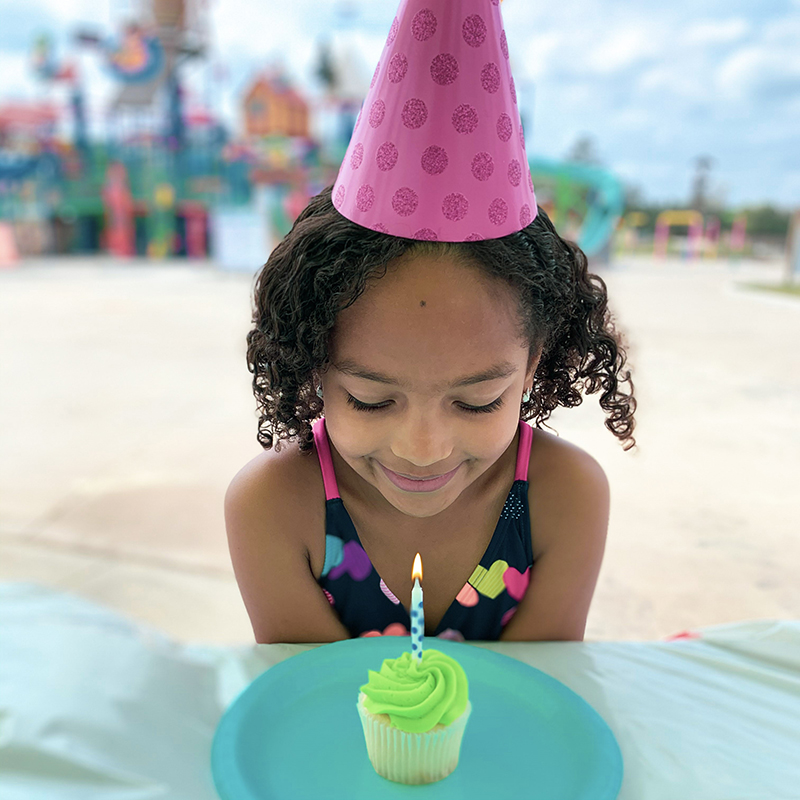 birthday girl with candle